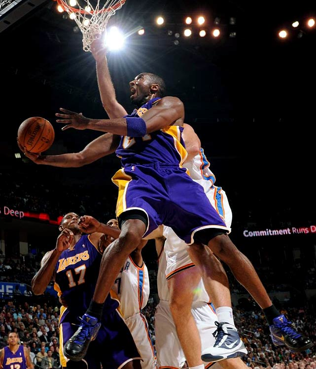 In leading the Lakers to the best record in the Western Conference, Kobe Bryant has made a league-high six game-winning shots.