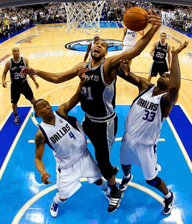 For most players, a 25-point, 15-rebound playoff performance is a career highlight. When Tim Duncan put up 25 and 17 on the Mavericks in Game 2 to help the Spurs even the series, it was the 29th time the Big Fundamental had done so (only Shaq has more 25/15 postseason games).