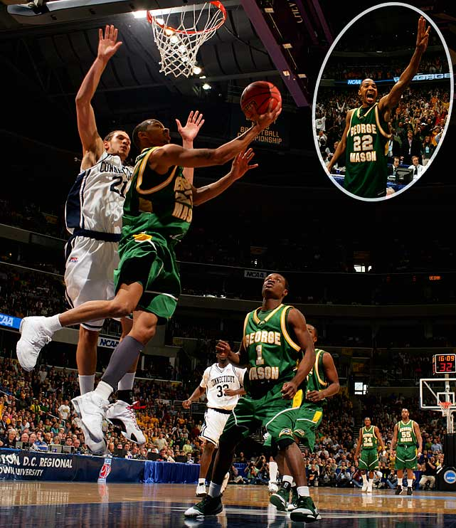 In 2006, the Patriots became just the second double-digit seed to make the Final Four. Mason's incredible run included wins over Michigan State, a Final Four team the previous season, North Carolina, the defending champions, and No. 1 seeded Connecticut, which featured four future first-round NBA draft picks.