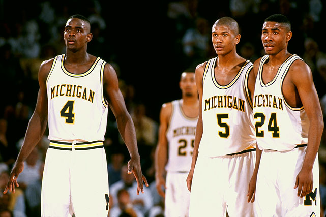 The Fab Five weren't expected to do so much damage so soon, but as the rest of the 1992 NCAA tournament found out quickly, the young Wolverines played a high-flying, high-tempo game. Michigan's raw talent produced wins over 2-seed Oklahoma State (Jalen Rose led all scorers with 25) and 1-seed Ohio State (behind Chris Webber's 23 and 11) en route to the first of back-to-back Final Fours.