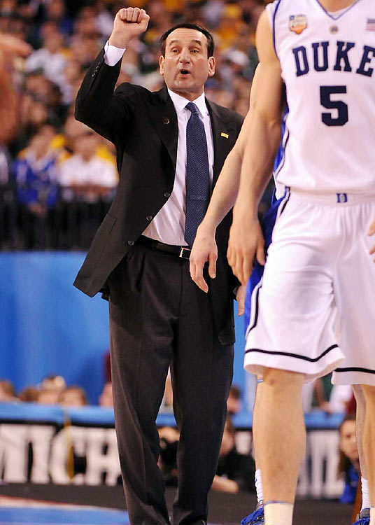 Duke is back in the Final Four for the 11th time under coach Mike Krzyzewski -- but first time since 2004.