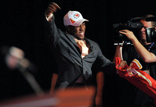 Tennessee safety Eric Berry was pumped after being selected fifth overall by the Kansas City Chiefs.