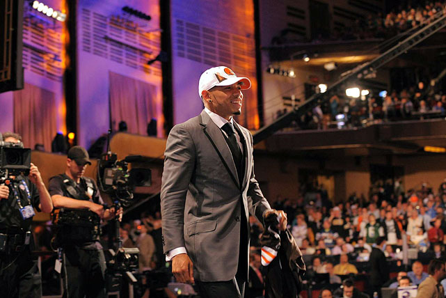 Florida cornerback Joe Haden takes the stage as the Cleveland Browns seventh overall pick.