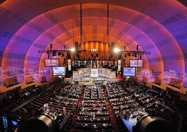 The first prime-time NFL draft was held at Radio City Music Hall. Here are SI's shots from the event.