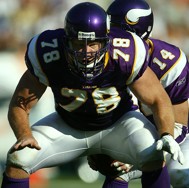 An All-Ivy performer at Harvard, Birk was a fixture at center for the Vikings for eight seasons, during which time he was considered by some to be the top center in the NFL. He earned his first bid to the Pro Bowl in 2000 and was selected again in 2001, 2003, 2004, 2006 and 2007.