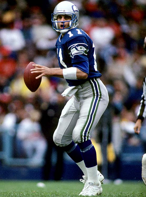 The Cardinals made Stouffer a top-10 pick in 1987, but Stouffer and the team couldn't agree on a contract, so the rookie QB held out the entire season, before his rights were traded to the Seahawks. But for all the hassle, Stouffer never delivered. In four years with Seattle, he never started more than seven games in a season, and totaled just seven touchdowns and 19 interceptions in his short-lived career.
