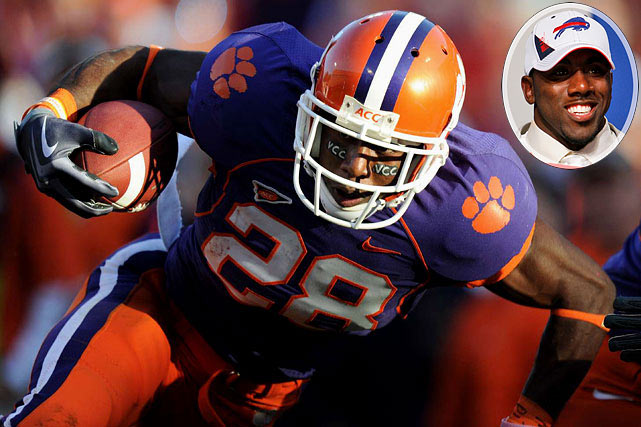 Round  	Pick  	Player  	Position  	School  1 	9 (9) 	C.J. Spiller (pictured) 	RB 	Clemson 2 	9 (41) 	Torrell Troup 	DT 	UCF 3 	9 (72) 	Alex Carrington 	DE 	Arkansas State 4 	9 (107) 	Marcus Easley 	WR 	Connecticut 5 	9 (140) 	Ed Wang 	T 	Virginia Tech 6 	9 (178) 	Arthur Moats 	OLB 	James Madison 6 	23 (192) 	Danny Batten 	DE 	South Dakota State 7 	2 (209) 	Levi Brown 	QB 	Troy State 7 	9 (216) 	Kyle Calloway 	T 	Iowa