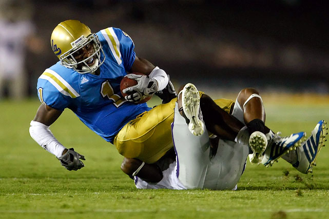By all accounts, Verner's technique needs work and he can stand to add bulk to his frame, but there's no question he was highly productive for the Bruins. In his time at UCLA, Verner pulled down 13 interceptions, returning four for scores and adding another TD off a blocked field goal.