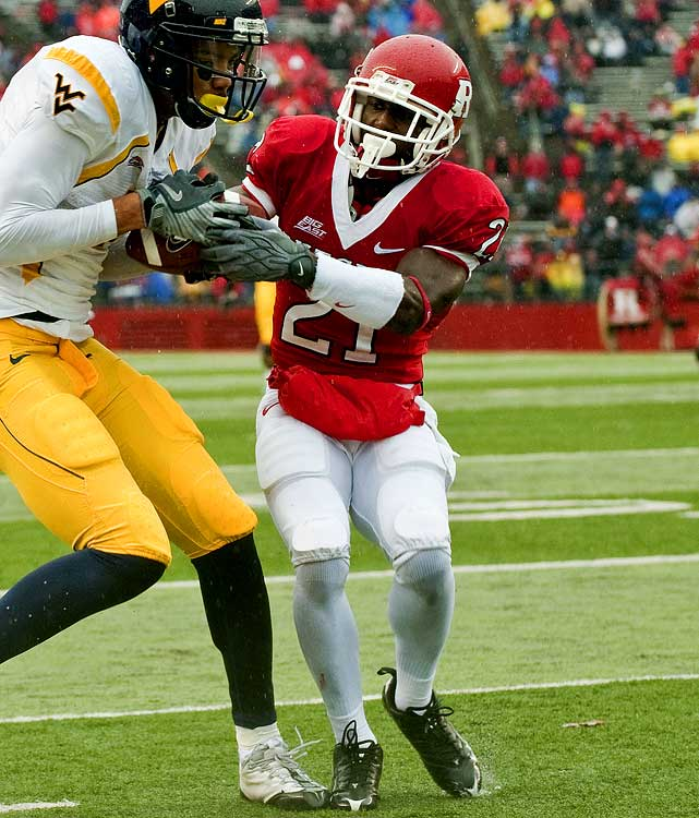 Scouts love McCourty's instincts, work ethic, and durability in spite of his slender build and inconsistency against bigger receivers. McCourty's identical twin brother Jason (who also attended Rutgers) was drafted in the sixth round of last year's draft by the Titans, leaving Devin to pick up All-Big East honors on defense and impress on special teams.