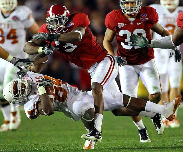 Jackson opened eyes with a sub-4.5 40-time at the combine, proving he has the speed to hang with elite NFL receivers. Bama coach Nick Saban begged Jackson to bring his skills back to school, but supreme confidence, quickness, and hands make Jackson a projected late-first or early-second round selection.