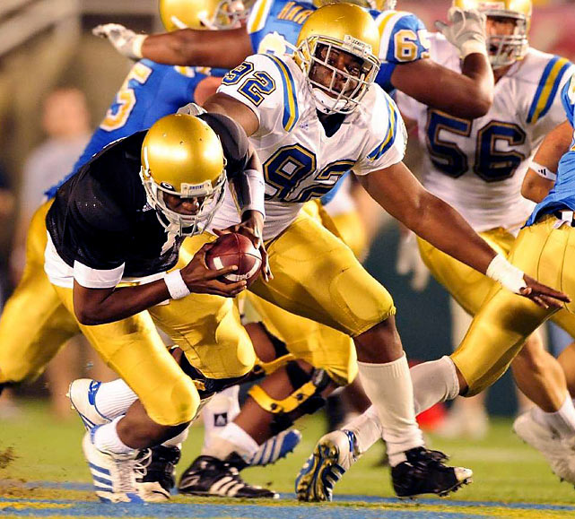 Price, the Pac-10 Defensive Player of the Year in '09, totaled 43 tackles and 7 sacks in his junior season at UCLA. And though Price lacks prototypical height for the defensive tackle spot, his productivity has proven he has a high motor and he plays with the intensity needed for success in the pro ranks.