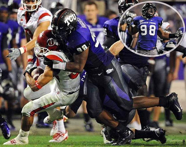 Another converted defensive end, Hughes was highly productive at TCU, disrupting opponents' passing attacks to the tune of 11.5 sacks his senior season. Hughes is durable, reliable, and never gives up on a play. His biggest weakness -- that he may not have a true position in the pros -- could also be a strength, as Hughes is versatile enough to make big plays from anywhere on the field.