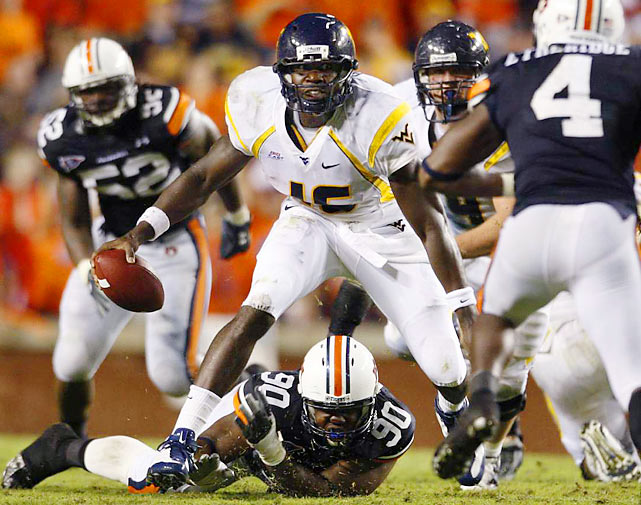 After spending two years waiting in line behind current Dophins QB Pat White, Brown was handed the starting job at West Virginia for the '09 season. Brown has great arm strength, but needs to improve his decision-making, drawing comparisons to Tavaris Jackson of the Vikings.