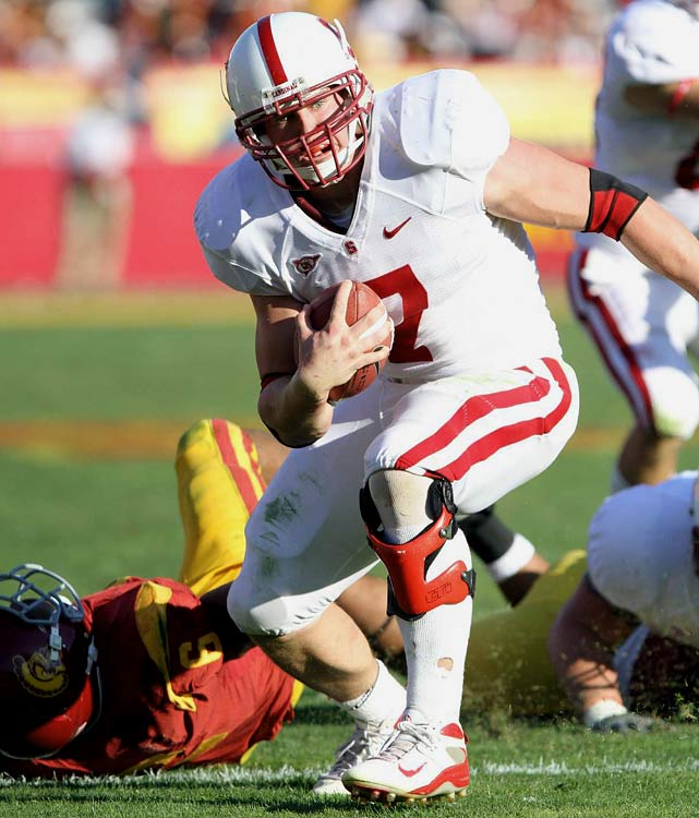 Gerhart led the nation in rushing his senior season at Stanford, propelling him into the Heisman race. Some experts think he'll wind up as an NFL fullback, while others maintain Gerhart has the power, shiftiness, and pass-catching ability to make it as a featured running back.