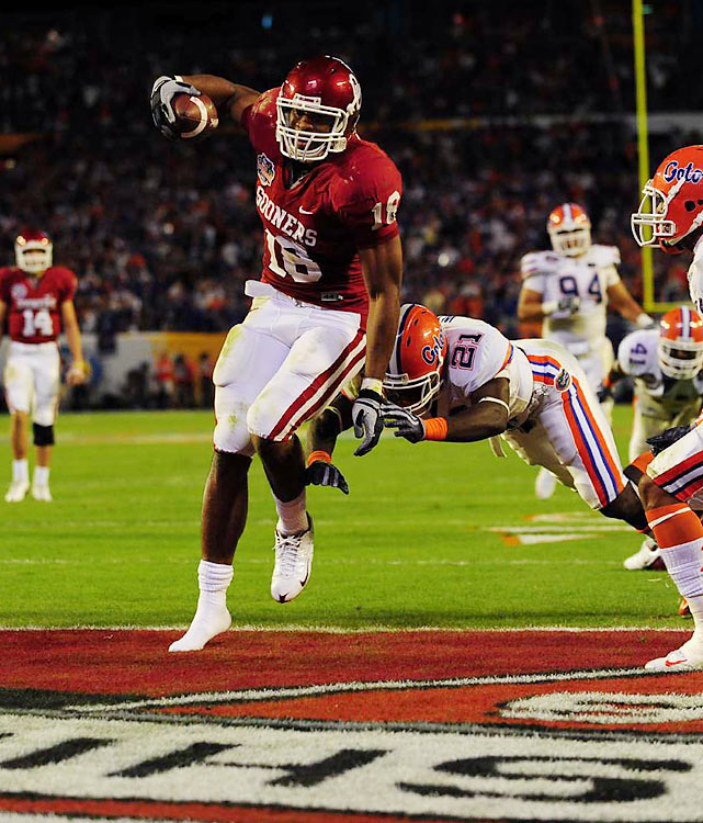 Oklahoma's top tight end missed the entire 2009 season after blowing out his knee before the Sooners' first game of the year. Gresham is athletic and fast, rare for a tight end who weighs in at over 260 lbs. His knack for getting in the end zone has given him a playmaking reputation, but his health and blocking remain question marks.