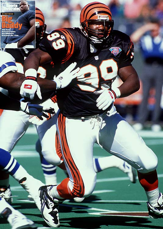 "Wilkinson played four seasons with the Bengals after Cincinnati took the Ohio State product with the first overall pick, recording 25.0 sacks and missing just three games. The Bengals sent Wilkinson packing after the defensive end called Cincinnati a ""racist"" city, and the Dayton native spent the remaining seven years of his career playing for the Redskins, Lions and Dolphins."