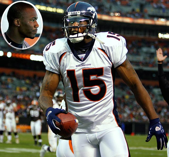 The Broncos wide receiver was suspended for three games of the 2008 season following a string of off-field incidents, including an arrest on a domestic violence warrant from a former girlfriend. Marshall was already awaiting trial on a DUI charge.