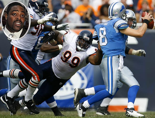 The former Bears defensive tackle was suspended for the first eight games of the 2007 season. Johnson was suspended after serving 60 days for a probation violation involving a weapons charge and was later released after another arrest.
