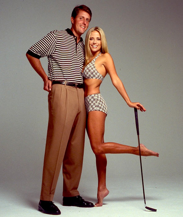 Phil and Amy pose during a photo shoot for the 1998 SI Swimsuit issue.