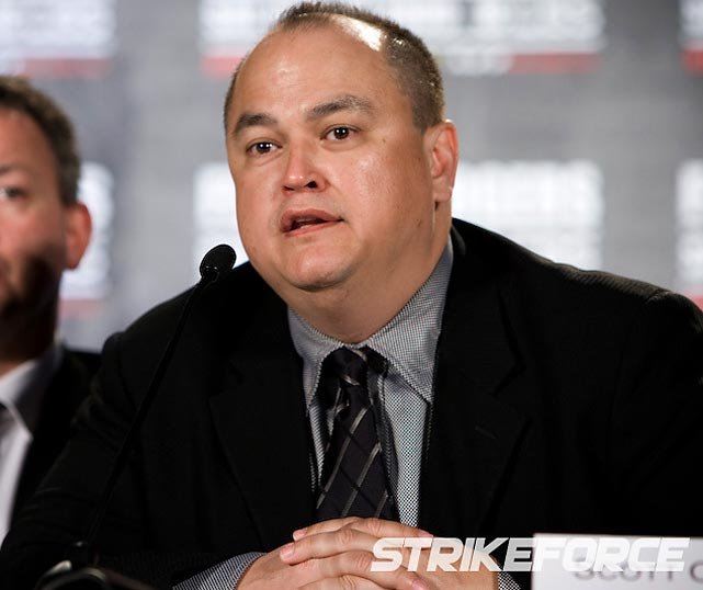 "<b><i>""I'd just like to say, there's no room in Strikeforce for that type of behavior."" </b></i> <br><br>Strikeforce CEO Scott Coker after a post-bout brawl."