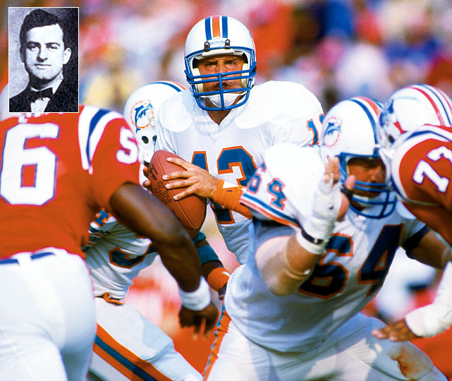 "Dan Marino owes a tip of the hat to Eddie Cochens (inset) for his NFL single season-record of 5,084 passing yards in 1984. You see, Cochems is known as the ""Father of the Forward Pass,"" dating to 1906, when the St. Louis University head football coach had his players attempt a forward pass in the first game of that season. In that game, St. Louis' Bradbury Robinson threw a 20-yard touchdown pass to Jack Schneider. Cochems' innovation on the football field has even been compared to what the Wright brothers meant to aviation."