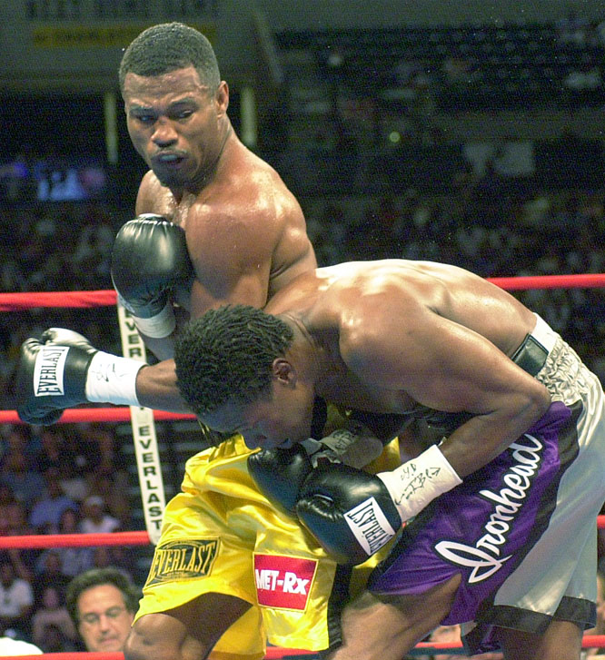 Mosley's career ascent was halted in 2002 with back-to-back losses to Forrest in a pair of memorable welterweight title fights.