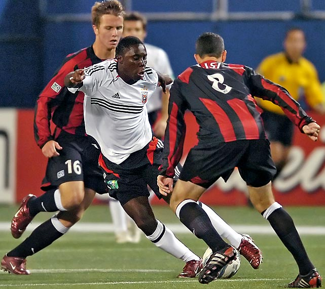 Freddy Adu debuted with D.C. United as a 14 year old but never established a regular spot in the lineup, recording only 11 goals in 87 games.