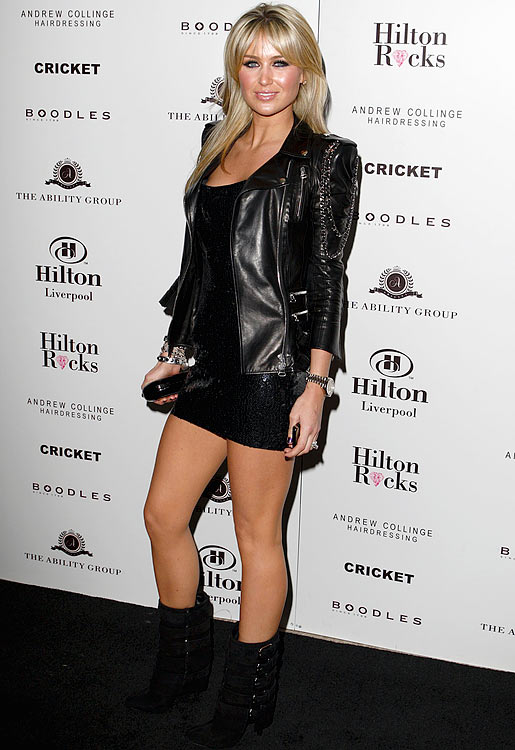 Model Alex Curran, wife of English midfielder Steven Gerrard (Liverpool), attends the Launch Party for Hilton Liverpool in England.