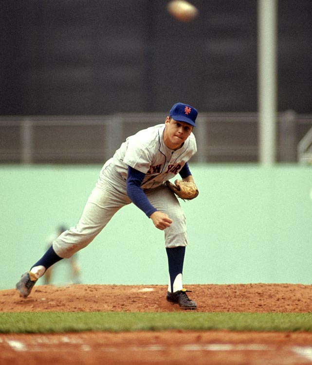 The Mets Hall of Famer earns his first victory, a 6-1 result against the Cubs. Seaver went on to pile up 310 more wins during his illustrious 20-year career.