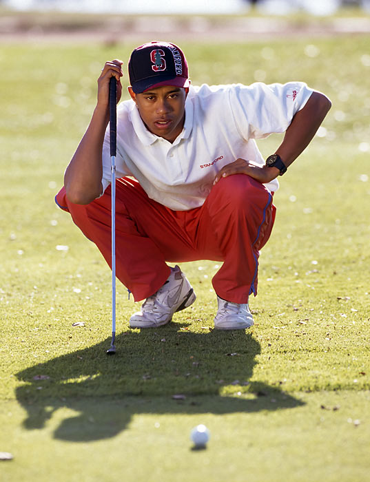 During Woods's first year of college, he won the U.S. Amateur title and qualified to play in the Masters.