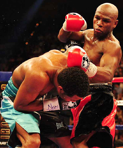 Mayweather, who earned $2,500 in his pro debut 14 years ago, was guaranteed $22.5 million.