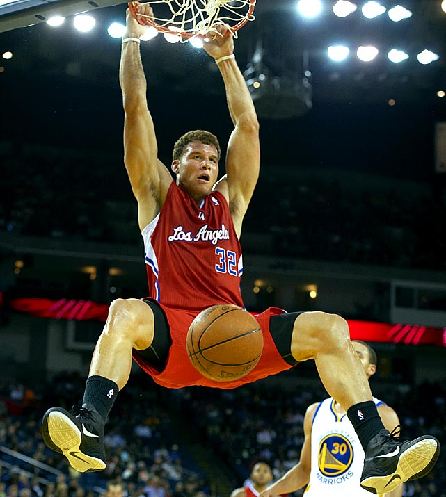 "Forced to miss the entire 2009-2010 season because of a stress fracture in his knee, Griffin has been excellent in his much-anticipated NBA debut. Along with averaging better than 20 points and 12 rebounds, Griffin has wowed even his peers with his explosive, high-flying dunks. Tweeted LeBron James: ""Man Blake Griffin is the most explosive player in the league! Crazy bounce."""