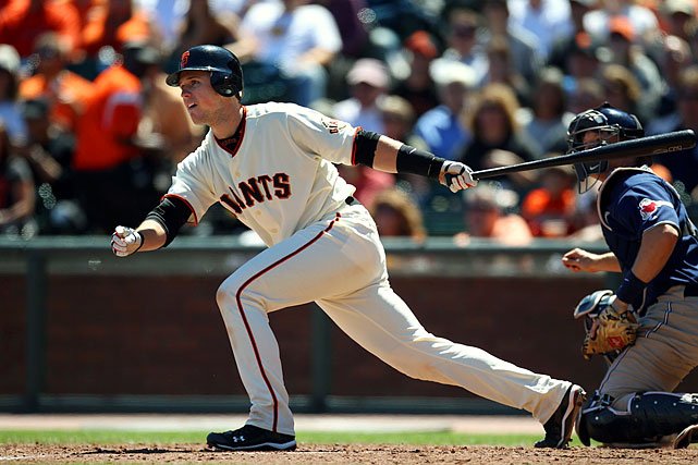 After being called up in late May, Posey established himself as one of the best young players in baseball. The catcher hit .305 with 18 HRs and 67 RBIs while helping San Francisco to its first NL West division crown since 2003.  Posey's combination of offensive firepower and pitching staff management earned him NL Rookie of the Year honors, though he'll probably remember the season more for the Giants' remarkable run to the World Series title, the franchise's first since 1954.
