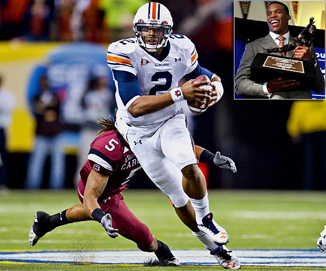 Newton torched defenses in a Heisman-winning 2010, totaling 2,589 passing yards, 1,409 rushing yards and 48 touchdowns. He's stayed focused amid a slew of NCAA investigations, leading comeback wins against South Carolina, Georgia, LSU and, most improbably, Alabama. With Newton at the controls, Auburn will play for the national championship against Oregon on Jan. 10.