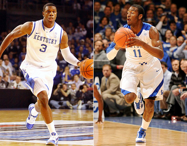 In 2009-2010, John Calipari welcomed John Wall (right), DeMarcus Cousins, Eric Bledsoe and Daniel Orton. Wall was the headliner and led the Wildcats to the Elite Eight, and all four, again led by Wall (No. 1), were first-round picks in the 2010 NBA draft. John Calipari reloaded quickly for 2010-11, bringing in highly touted freshmen Brandon Knight, Terrence Jones (left) and Doron Lamb (another celebrated freshman, Enes Kanter, has been ruled ineligible.) Jones, a 6-8 forward, was the early standout this season.