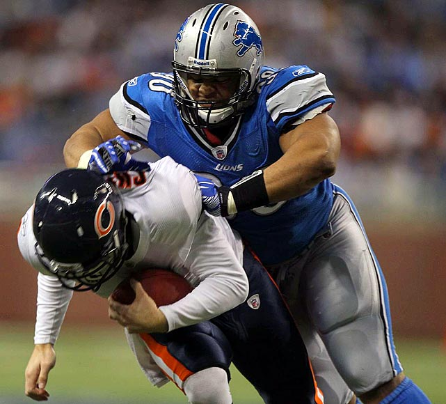 A force at Nebraska, Suh has been equally effective on the defensive line for Detroit. With eight sacks through Week 15, Suh is a popular choice to take home Rookie of the Year honors. He's even flashed his pass-catching abilities. Suh tipped and reeled in an interception on Oct. 10 against St. Louis, rumbling 20 yards in the Lions' 44-6 rout.