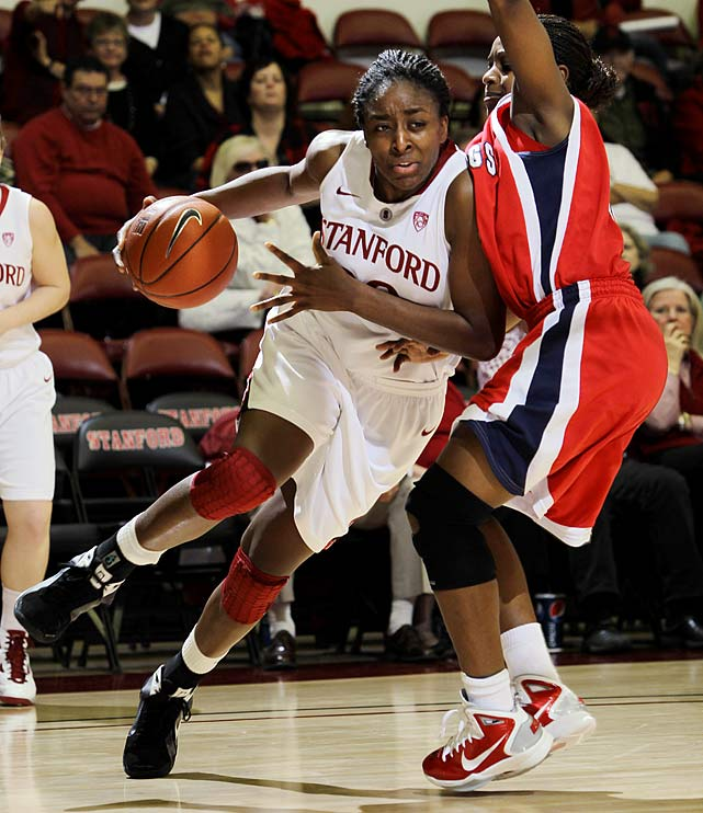 After averaging 21 minutes per game as a part-time freshman starter in 2008-09, the Stanford forward busted out in 2009-2010 as the Pac-10 Player of the Year and a second-team All-America with averages of 18.5 points and 9.9 rebounds. Ogwumike has continued her stellar play to start the 2010-11 season for the highly ranked Cardinal.
