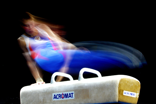 Sergey Stepanov of Russia competes on the Pommel Horse during day one of the 2010 Pacific Rim Championships at Hisense Arena on April 29 in Melbourne, Australia.