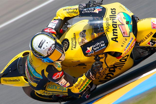 Hector Barbera of Spain finished eighth on May 21 in the Moto GP, Grand Prix de France, in Le Mans, France.