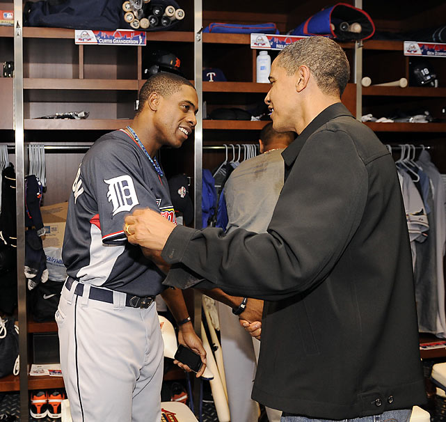 For Granderson, a Chicago-area kid who played his college ball at University of Illinois-Chicago, meeting fellow Chicagoan and 44th President Barack Obama in 2009 was a thrill.