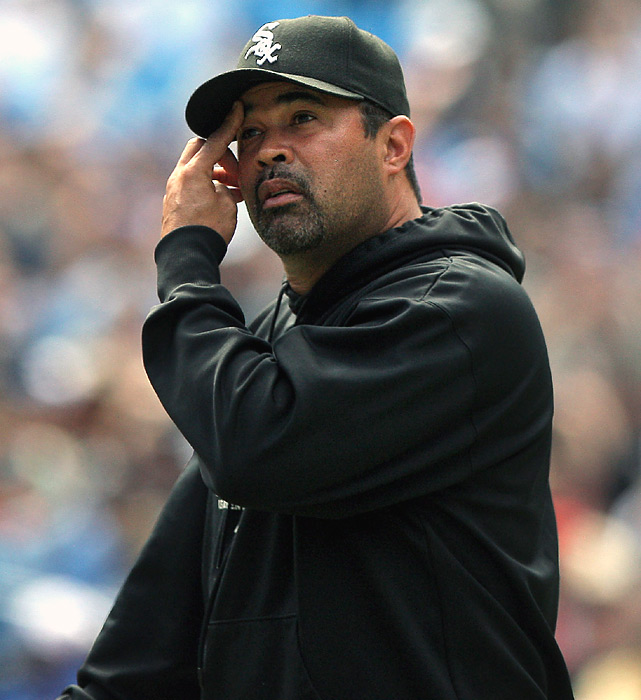 "White Sox manager Ozzie Guillen lashed out at Chicago fans for being forgetful.  Guillen was still steamed about Saturday's 14-inning defeat to the Blue Jays and defended himself and his coaching staff against those calling for their jobs.  The manager said no one in the White Sox locker room has more passion for the game than he does and that he'd be ""lying to myself"" if he tried not to care so much about wins and losses.  He also decried Chicago fans' short memories, saying that ""when they're drunk"" they urinate on the display outside U.S. Cellular Field that honors the 2005 World Series champions."