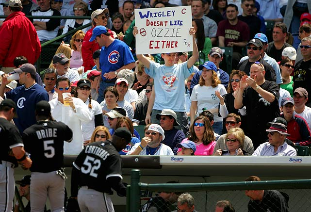 "On Wrigley Field and why White Sox fans weren't showing up at U.S. Cellular Field other than for Cubs games: ""Because our fans are not stupid like Cubs fans. They know we're [bleep]. ... Wrigley Field is just a bar."""