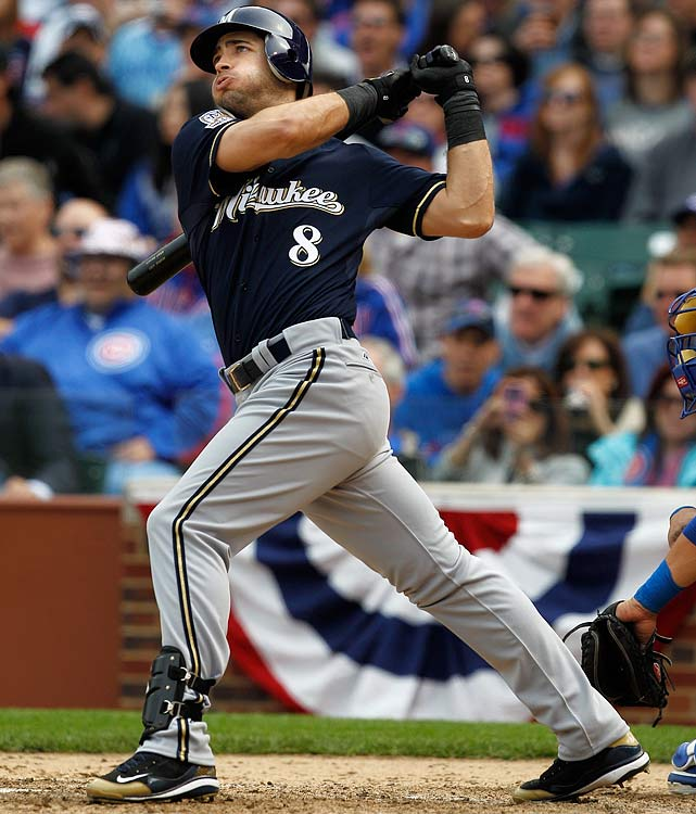 Braun wasted no time establishing himself as a power threat upon being called up to the big leagues. In his rookie season of 2007, he hit 34 homers, and the Hebrew Hammer followed that up with 37 and 32 the last two years.