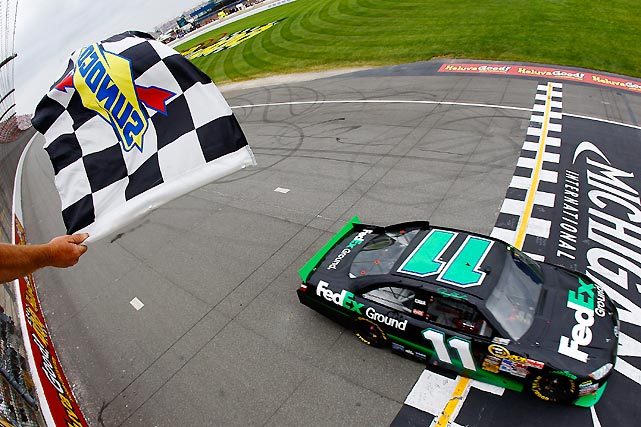 Hamlin made it back-to-back wins, leading 123 laps for his first victory at Michigan and giving him five wins in a season for the first time in his career.