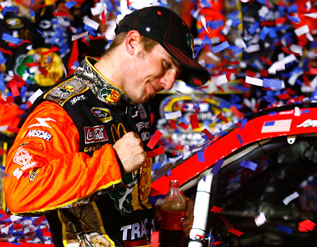 McMurray made it three wins on three of the sport's most historic tracks as he followed victories at Daytona and Indianapolis by reaching Victory Lane at Charlotte. It was also the first win for a non-Chase driver in the playoff.