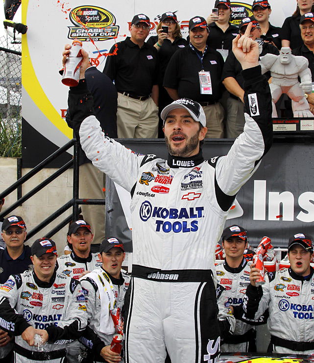 The leading rebounder in the Cup Series solidified his status in Sunday's AAA 400 at Dover International Speedway. Lest any of his competitors happened to forget that Jimmie Johnson will be a factor in the Chase, Johnson gave them a smoky reminder Sunday afternoon as he rallied from last week's rocky start to the Chase at New Hampshire.