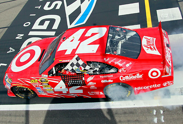 Juan Pablo Montoya ended a 113-race drought -- and a season full of frustrations -- beating Kurt Busch by 4.7 seconds with a win at The Glen. It was Montoya's second career Cup series victory as well as the second on a road course, with the other coming win at Sonoma in 2007.