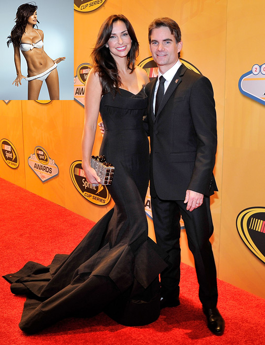 Sports Illustrated  model Ingrid Vandebosch is married to four-time Sprint Cup champion Jeff Gordon.