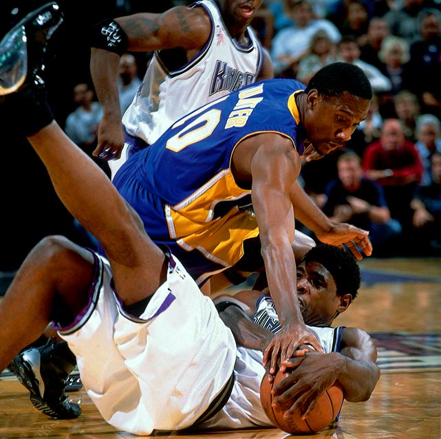 If only Webber's Kings had gotten past the Lakers in the controversial 2002 Western Conference finals -- surely Sacramento could have dominated the Nets in the Finals like L.A. did. In fact, Webber played on four 55-win teams with the Kings without a Finals appearance to show for it. Webber's crunch-time shortcomings have led to much debate surrounding his Hall of Fame candidacy.