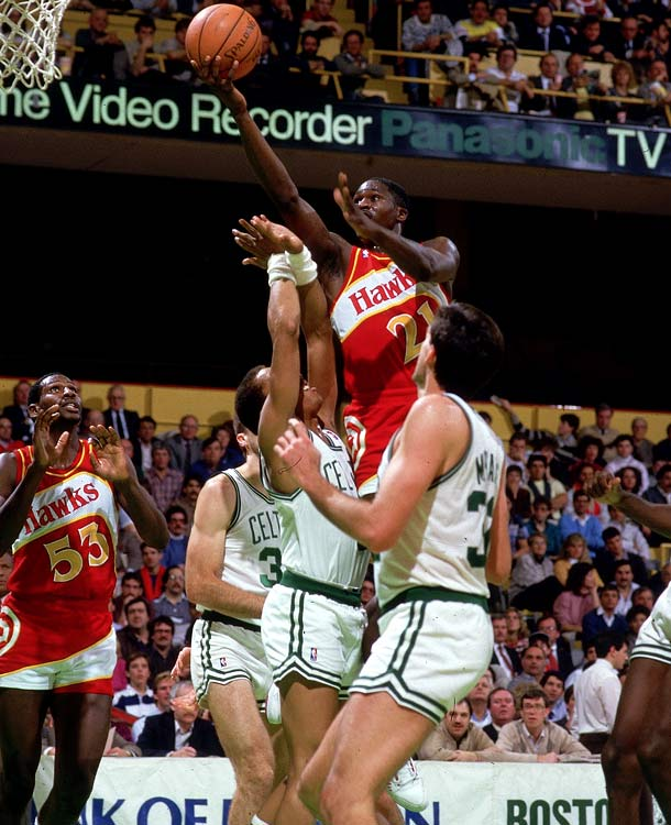 In terms of the playoffs, the Human Highlight Film is remembered best for his scintillating duel with Larry Bird in Game 7 of the 1988 Eastern Conference semifinals ... which the Hall of Famer Wilkins' Hawks lost 118-116.